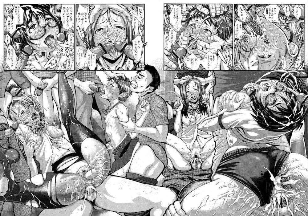 【いじめ輪姦エロ漫画】いじめでブルマ姿でギャンブル負けたおっさんで満員のバスに!痴女命令で集団レイプされたJK!【ぶるまにあん】
