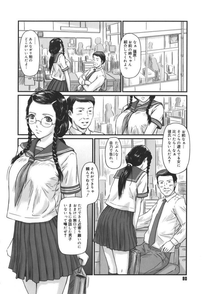 【弟LOVEエロ漫画】学校ではお下げ髪にメガネと真面目な格好のJK姉!そんな姉が家ではエロい格好なんです!なぜなら弟の事が好きで始めては弟とヤりたいんです!【如月群真】